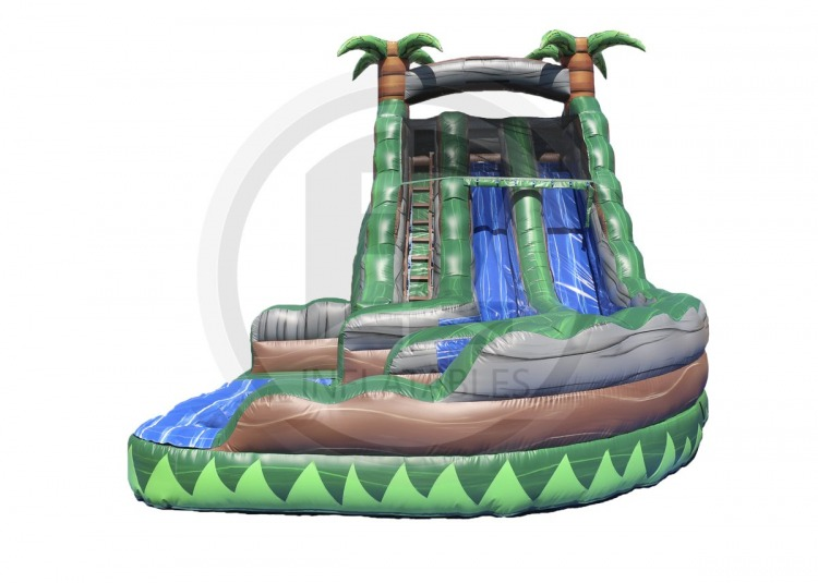 Congo Rainforest Dual Lane Water Slide